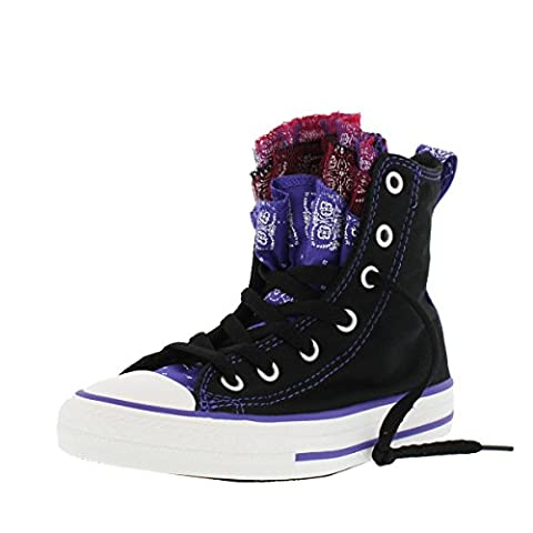 Converse Mädchen Girl Sneaker GR. 36 (US4) Chuck Taylor All Star High Top schwarz black *** Party Hi Bandana *** 647664F Canvas