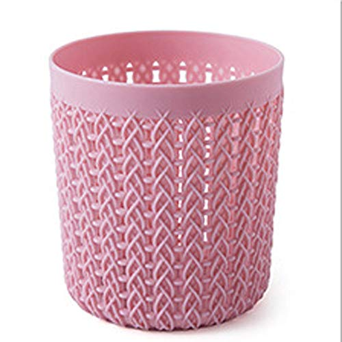 Mlpus moda multi-funzione studente scrivania faccia rotonda portapenne rosa rotonda vuota scatola di immagazzinaggio ufficio cancelleria (colore : pink)