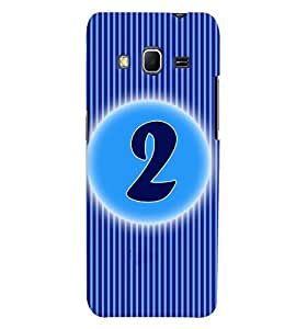 Fuson 3D Printed Numerology Designer back case cover for Samsung Galaxy Core Prime G360H - D4219