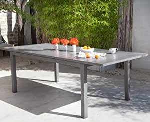 Table OCEO Turin, aluminium 180/240 x 100 cm-