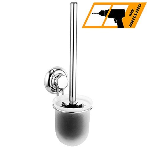 Maxhold sistema di vuoto spazzolone per wc - nessuna perforazione - acciaio inossidabile nessuna ruggine - utilizzabile in bagno e cucina