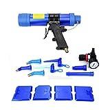 FTVOGUE Regolabile Pistola per colla a vetro pneumatico Sigillante Caulk Pistola ad aria compressa 310ML con 6 pezzi Spray Adesivo 4 pz Film soffiato 2 pz Ugello prolungato