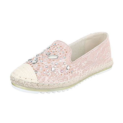 Slipper Damenschuhe Low-Top Moderne Ital-Design Halbschuhe Rosa