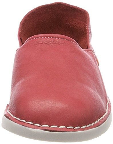 Softinos Damen Tup452sof Washed Slipper Rot (Red)