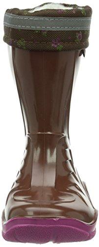 Pferdefreunde M?dchen Gummistiefel, Regenstiefel marrone/fuchsia, 120112-2 Marron - Braun (marrone/fuchsia)