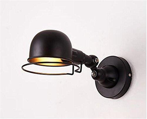 Vintage industriellen langen Ausleger Teleskop Faltwand lampe Wohnzimmer Esszimmer LED Wandleuchte aus geschmiedetem Eisen, schwarz, kurzer Absatz