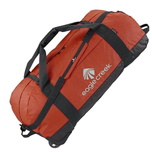 Eagle Creek Ultraleichte Reisetasche Sporttasche mit Rollen No Matter What Rolling Duffel, 91 cm, 128 L, rot Clay (Tasche Rolling Weekender)