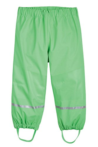 Unisex Kinder Regenhose, Matschhose, Buddelhose Wasserdicht Grün 98-104
