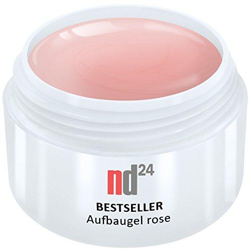 30ml - nd24 BESTSELLER - AUFBAU-GEL rosa dickviskos - UV Nagelgel - Made in Germany - säurearm selbstglättend (Aufbau-gel)