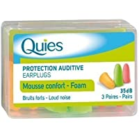 Quies Earplugs Foam 3 Pairs 35 dB Noise Reduction Barrier Against Loud Noise New by Quies preisvergleich bei billige-tabletten.eu