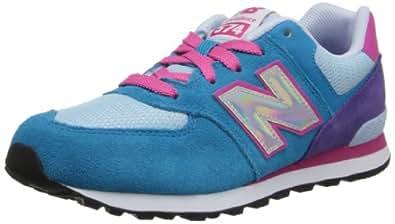 New Balance , Baskets mode pour garçon violet violet - bleu - bleu/rose, 6,5W EU enfant grand