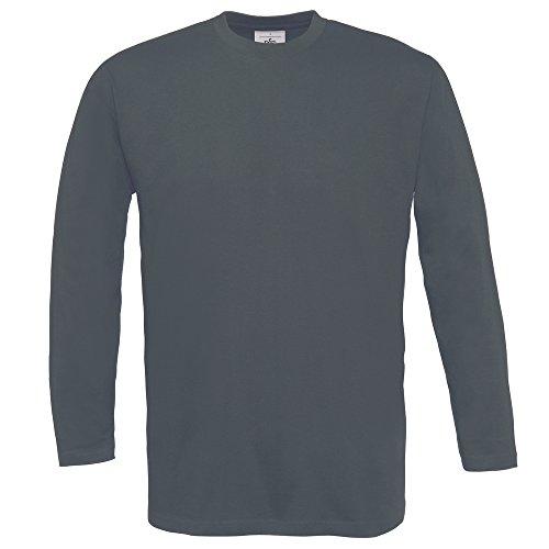 B&C Collection Exact 150 long sleeve Dark Grey