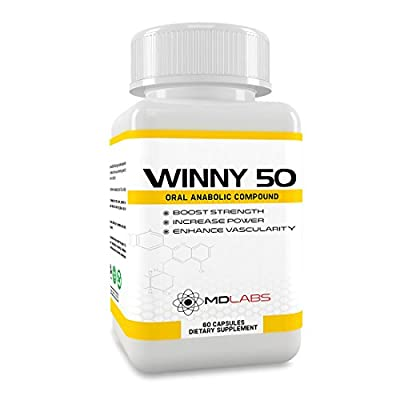 WINNY 50® - Testosterone Booster & Anabolic Fat Loss Compound / Legal Muscle Growth Agent / 30 Days Supply from MD Health
