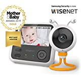 """Wisenet SEW 3048 BabyView Eco Flex Digital Video Baby Monitor with Camera. Winner of Mother&Baby 2019 Gold Award. 4.3"""" Wide LCD Screen, Super-Fast Sound and Video Response Time."""