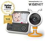 "Wisenet BabyView Eco Flex Digital Video Baby Monitor – SEW 3048, Winner of Mother&Baby 2019 Gold Award. 4.3"" Wide LCD Screen, Super-Fast Sound and Video Response Time. Add up to 4 Additional Cameras"