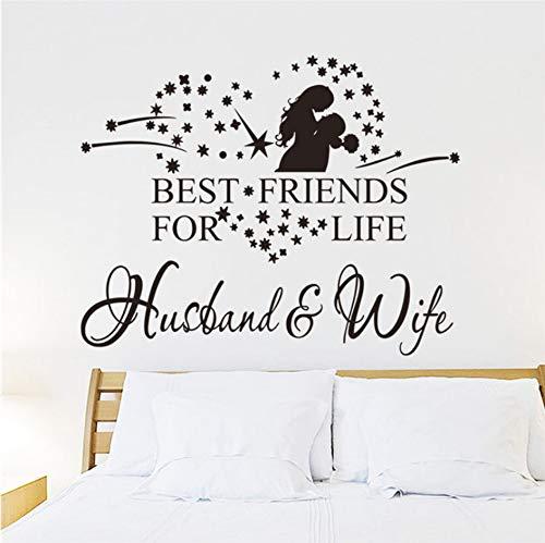 Beste Freunde Für Leben Mann Und Frau Zitate Wandaufkleber Hochzeit Schlafzimmer Diy Dekoration Home Vinyl Wandmalerei Kunst Zeichen Aufkleber (Freund Besten Ballons)
