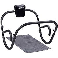 Relaxdays Máquina para Hacer Abdominales, Plegable, Alto x Ancho x Profundo: 66x 70x 70cm, Entrenador Fitness para Abdominales, Color Negro