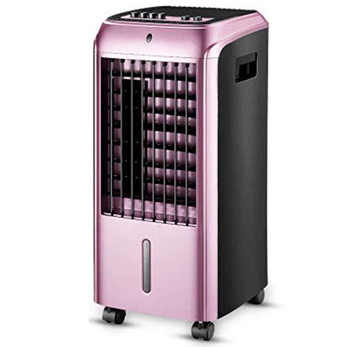 Mobile Klimageräte Mobiles Lokales Klimagerät Für Home Office Draussen,Ventilator Luftbefeuchter Luftkühler Mit Fernsteuerung,3 Speeds, 4.5L Water Tank (Color : Rose Gold) Rose Mobile