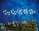 Hellum LED-Sternenstäbe-Set mit Erdspießen 5tlg. 70cm