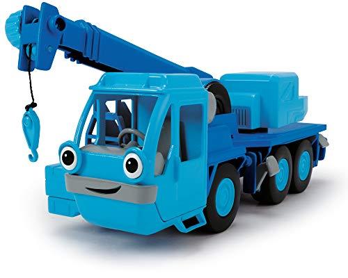 Dickie Toys 203134001 Bob der Baumeister Heppo Spielset Kranwagen mit Freilauf und Sprachausgabe, Blau
