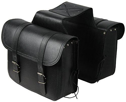 Alforjas laterales de cuero para moto 14 x 2 litros