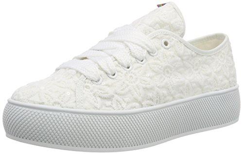 ESPRIT Damen Barbie Embro Sneaker, Weiß (White), 40 EU
