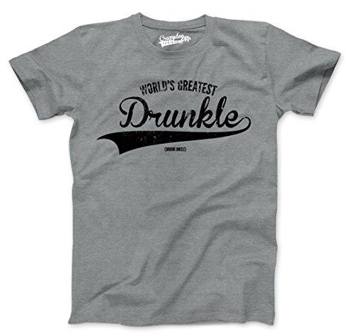 Lustig, Urkomisch Bier (Crazy Dog Tshirts Mens Worlds Greatest druncle Funny Drunk Uncle Family Relationship T Shirt (Grey) L - Herren - L)