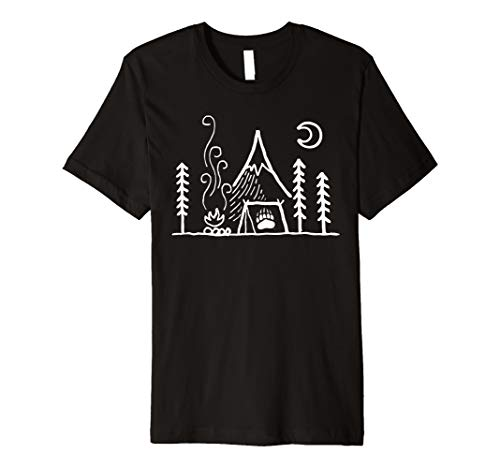 24c4101f46 Montana Grizzlies Camping - Simple Tent T-Shirt - Apparel
