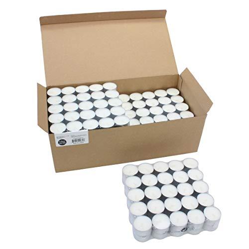 Stonebriar Long Tealight Candles, 6 to 7 Hour Extended Burn Time, Bulk 300-Pack, 300 Pack, White (White Christmas Lights Bulk)