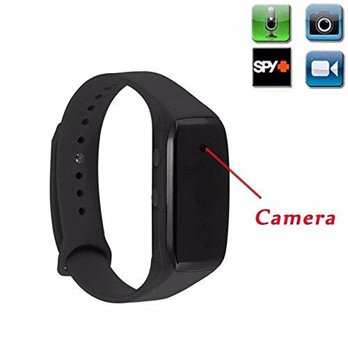 Spion Uhr versteckt Kamera Mini DVR Full HD 1920x 1080Smartwatch Armband Video Foto Aufnahme Camcorder (zeigt nicht die Stunde)