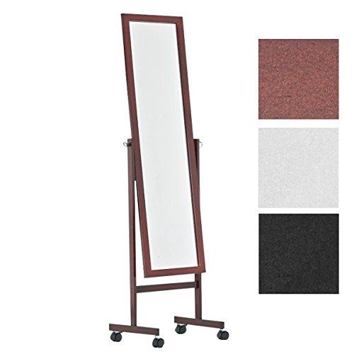 CLP Espejo de pie Yolanda de Madera Clásico I Espejo de Pie con Ruedas I Espejo de Madera 150 x 45 cm I Color: Cherry
