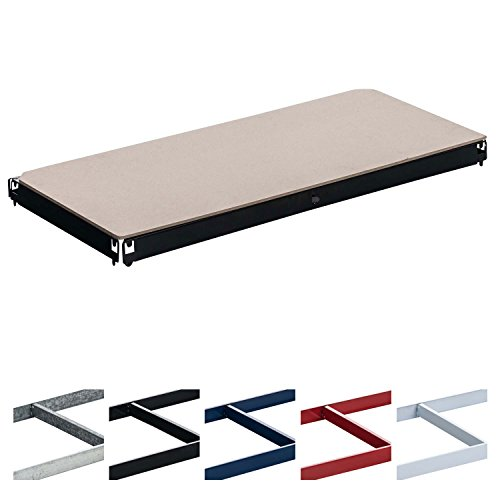CLP Einlegeboden, Ersatzteil Regal-Boden für Schwerlastregal 90 x 40 cm, 175 kg Tragkraft Schwarz