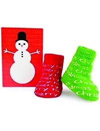 Trumpette Babysocken Merry Christmas rot/grün 0-12 Monate