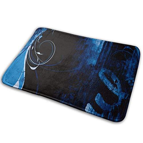 Uosliks Blaue schmutzige gebrochene Partei-Kunst-Eingangs-Matten-Boden-Matten-Teppich-Fußmatten-Gummi rutschfest - Wein Multi-teppiche