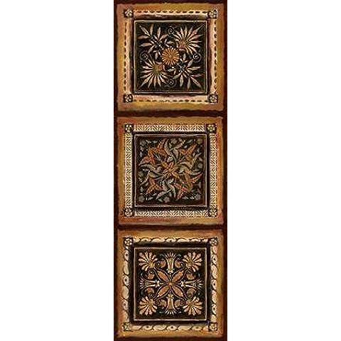 Folk Art by I Tava Studios-Stampa su tela in carta e decorazioni disponibili, Tela, SMALL (12 x 36 Inches ) - Folk Art Wall Hanging
