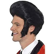 Smiffys 50's Quiff King Wig with Sideburns - Black
