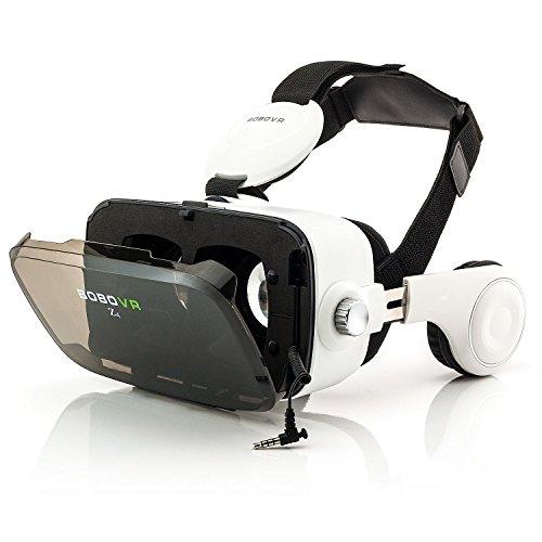 Zanasta occhiali 3d di realtà virtuale vr box con cuffie headset universali video giochi regolabili per apple iphone, samsung galaxy, sony xperia e altri dispositivi