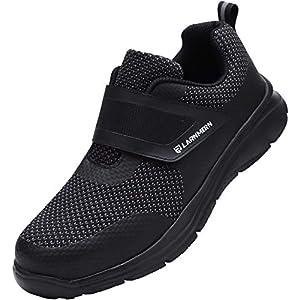 41O1kFMejXL. SS300  - Zapatos de Seguridad Hombre Mujer, Punta de Acero Zapatos Ligero Zapatos de Trabajo Respirable Construcción Zapatos Reflexivo Botas de Seguridad LM-112
