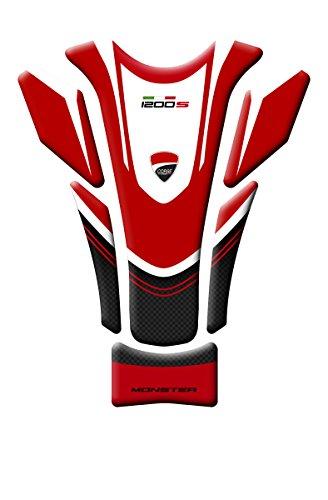Tankpad , Tankbehälter, aus Harz, 3D Motorrad Ducati Monster 1200R, Carbon Style, GP-086(M)