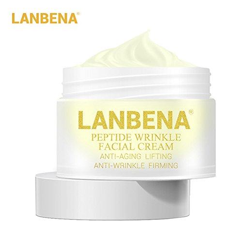 Bulary Lanbena Peptid-Anti-Falten-Creme, Anti-Aging-Pflege, straffende Gesichtscreme, Creme für...