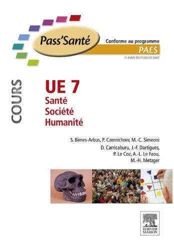 UE 7 - Sant - Socit - Humanit (Cours)