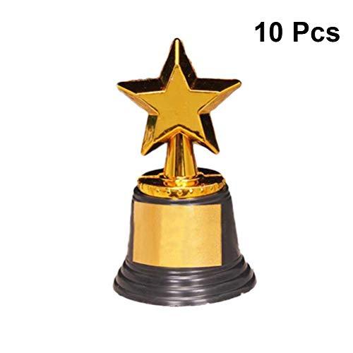 STOBOK Fünfzackige Sterne Trophäen Preise Spielzeug Mini Gold Cups Für Party Supplies Früherziehung Spielzeug 10 stücke