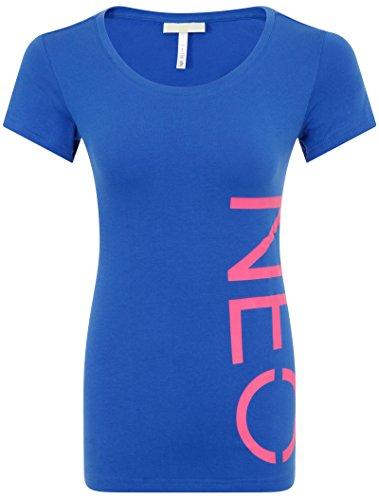 adidas Neo L T Damen T-shirt, Blau, Größe XS