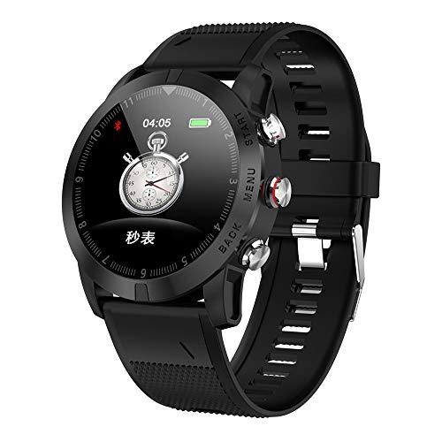 TechCode Activity Tracker Uhr, HD Touchscreen SmartWatch IP68 wasserdichte Fitness Tracker Unterstützung Blutdruck Herzfrequenz Schlafüberwachung Schrittzähler Uhr für IOS Android Handy(GJ-Schwarz)