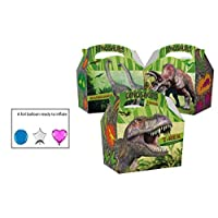 10 Childrens Kids Dinosaur Carry Food Meal Picnic Birthday Party Bag Boxes