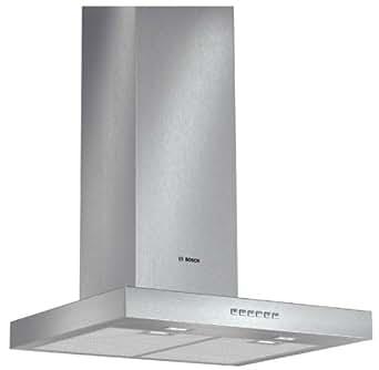 Bosch DWB067A51 Monté au mur Acier inoxydable 690m³/h A+ hotte - hottes (690 m³/h, Conduit / Recirculation, 44 dB, 360 m³/h, Monté au mur, Acier inoxydable)