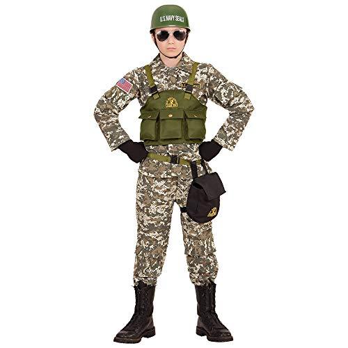 Themen Militär Kostüm - Widmann 96848 Kinderkostüm Soldat, Jungen, Grün/Braun/Beige