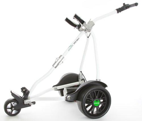 Greenhill PTS Ultra (BREMSE) Skyline Lithium Elektro Golf Trolley White/Titanium 18 hole battery (Motor Cart Golf)