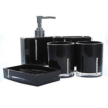 Badezimmer Accessoires   SODIAL(R)5 Teiliges Badezimmer Bad WC Accessoires  Set Seifenspender Zahnputzbecher