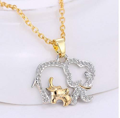 XZZZBXL Collar De Mujer Doble Collares De Elefantes para La Mujer Moda...